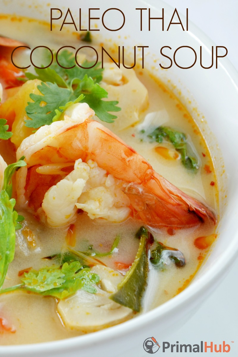 Paleo Thai Coconut Soup #paleo #soup #thai #coconut #glutenfree #dairyfree